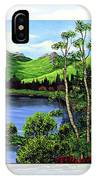 Twin Ponds And 23 Psalm On White IPhone Case