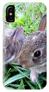 Two Baby Bunnies IPhone Case