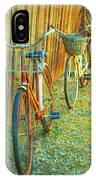 Two Bicyles IPhone Case