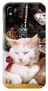 Two Cats At Christmas IPhone Case