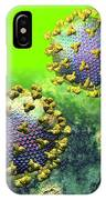 Two Hiv Particles On Bright Green IPhone Case