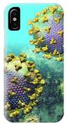 Two Hiv Particles On Light Blue IPhone Case