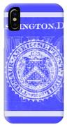 Two In Negative Blue IPhone Case