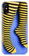 Two Legs Against Blue Wall IPhone Case