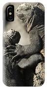 Two Marine Iguanas Amblyrhynchus IPhone Case