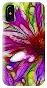 Two Purple Daisy's Fractal IPhone Case