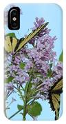Two Swallowtails IPhone Case