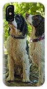 Two Wet Puppies IPhone Case