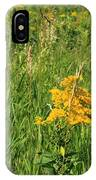 Two Yellow Wildflowers IPhone Case