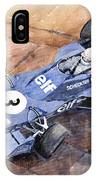 Tyrrell Ford 007 Jody Scheckter 1974 Swedish Gp IPhone Case