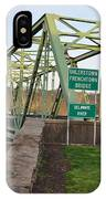 Uhlerstown Frenchtown Bridge IPhone Case