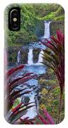 Umauma Falls Big Island Hawaii IPhone Case