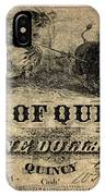 Union Banknote, 1861 IPhone Case