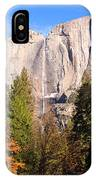 Upper Yosemite Falls In Autumn IPhone Case