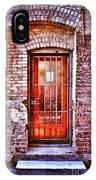 Urban Door In Old Brick Building IPhone Case