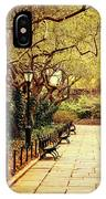 Urban Forest Primeval - Central Park Conservatory Garden In The Spring IPhone Case