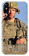 U.s. Army Captain Directs An Ah-64 IPhone Case