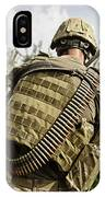 U.s. Army Mk48 Machine Gunner Patrols IPhone Case