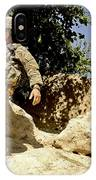 U.s. Army Soldier Climbs Down A Hill IPhone Case