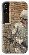 U.s. Army Soldier Configures IPhone Case