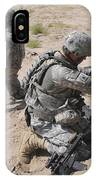 U.s. Army Soldier Sets Up A Satellite IPhone Case