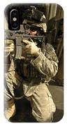 U.s. Army Soldiers Providing Overwatch IPhone Case