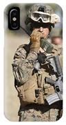 U.s. Marine Radios His Units Movements IPhone Case