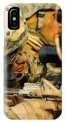 U.s. Marine Uses A Spotting Scope IPhone Case