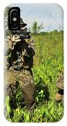 U.s. Marines Guard An Extraction Point IPhone Case