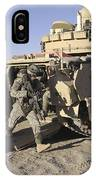 U.s. Soldiers Exit From An M2 Bradley IPhone Case