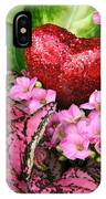 Valentine Heart And Flowers IPhone Case