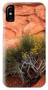 Valley Of Fire Yellow Vegetation Nevada IPhone Case
