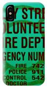 Valley Stream Fire Department In Irish Green IPhone Case