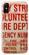 Valley Stream Fire Department IPhone Case