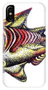 Variegated Red Fish In Stipple IPhone Case