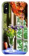 Vase Of Flowers And Mug By Window IPhone Case