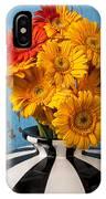 Vase With Gerbera Daisies  IPhone Case