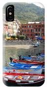 Vernazza's Harbor IPhone Case