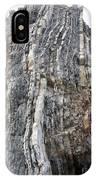 Vertical Sedimentary Strata IPhone Case