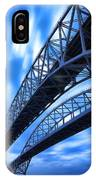 Very Blue Water Bridge  IPhone Case