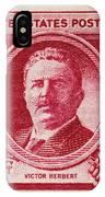Victor Herbert Postage Stamp IPhone Case