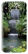 Victorian Garden Waterfall - Digital Art IPhone Case