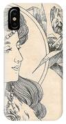Victorian Lady - 1 IPhone Case