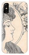 Victorian Lady - 3 IPhone Case