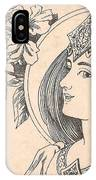 Victorian Lady - 4 IPhone Case