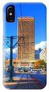 View Of Downtown Buffalo From The Tracks IPhone Case