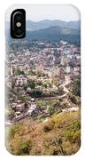 View Of Katra Township While On The Pilgrimage To The Vaishno Devi Shrine In Kashmir In India IPhone Case
