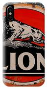 Vintage Lion Oil Sign IPhone Case