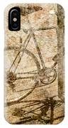 Vintage Looking Bicycle On Brick Pavement IPhone Case