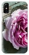 Vintage Pink English Rose And Peeling Paint IPhone Case